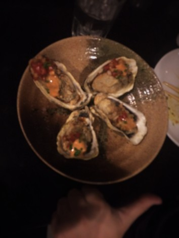Pan-Fried Oysters at Sensei Sushi